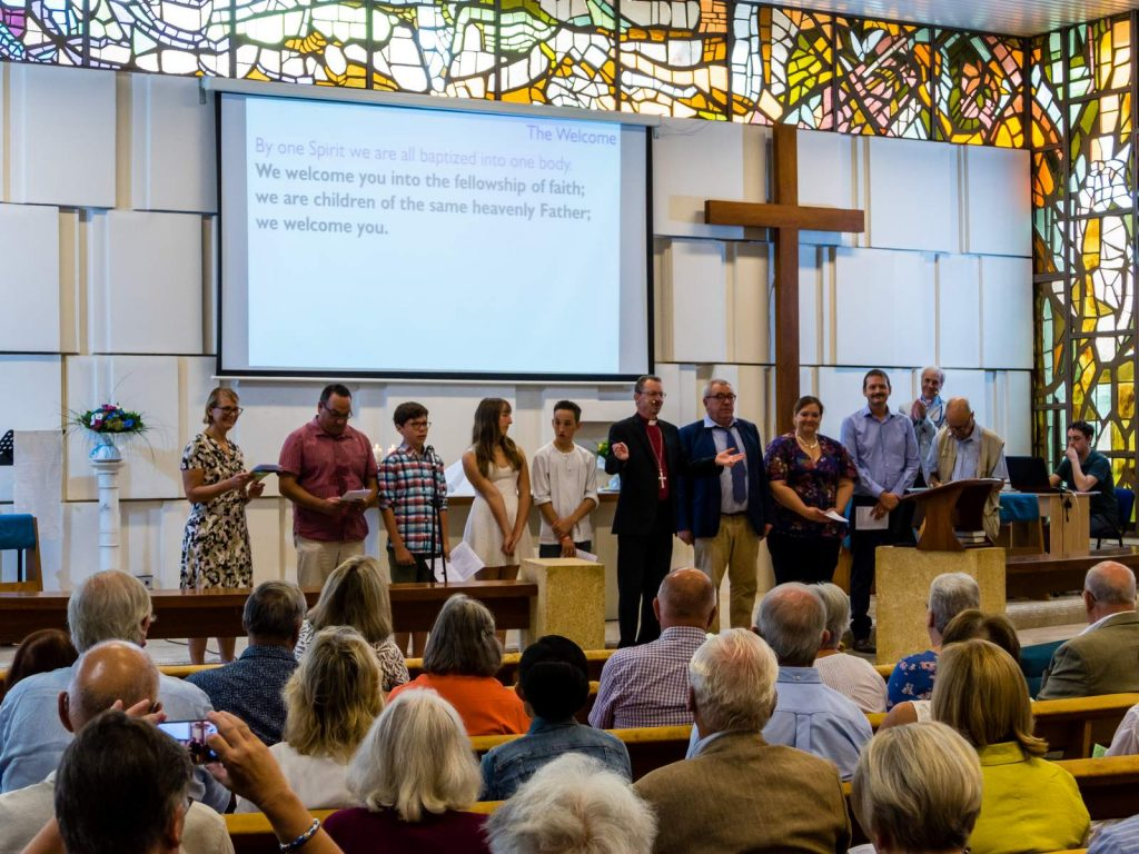 Confirmation service at Holy Trinity Cannes