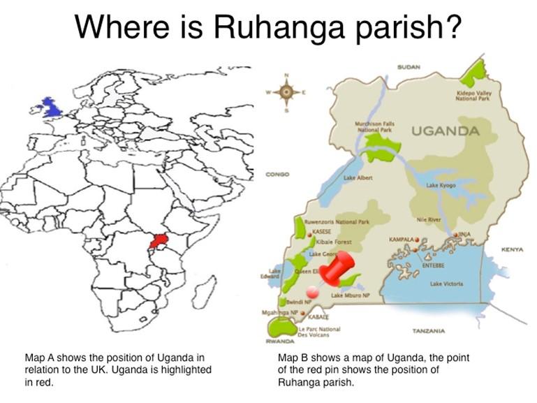 map showing position of Ruhanga